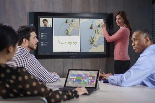 : Interaktion steht beim Microsoft Surface Hub im Mittelpunkt - Quelle: Microsoft