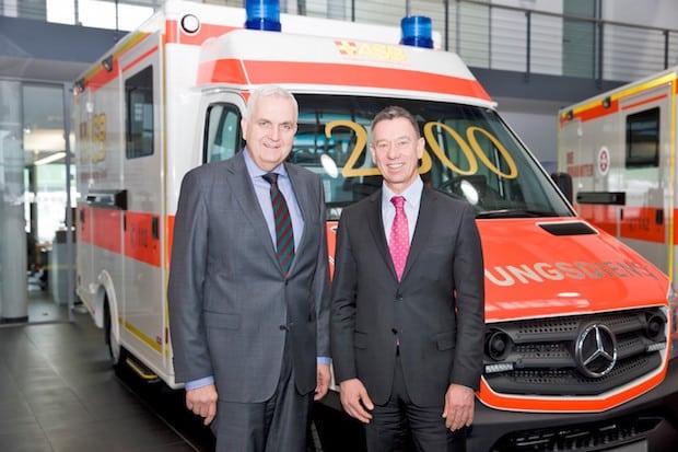 Photo of 2500ster Sprinter-Rettungswagen für den Rettungsdienst in Bayern