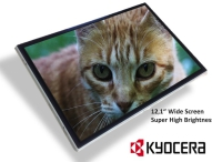 Kyocera stellt neues super helles Wide-Screen TFT-LCD für industrielle Anwendungen vor