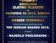 Ausgezeichnet: Messer ist bester Arbeitgeber 2015 in Serbien