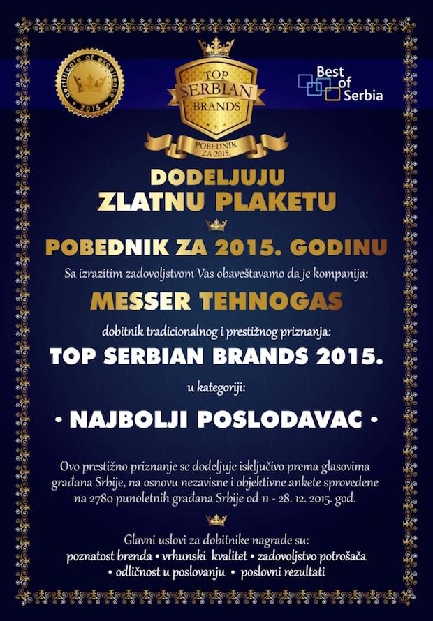 Photo of Ausgezeichnet: Messer ist bester Arbeitgeber 2015 in Serbien