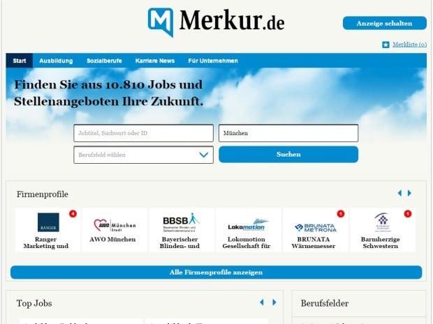 Bild von Neue Portallösung für jobs.merkur.de