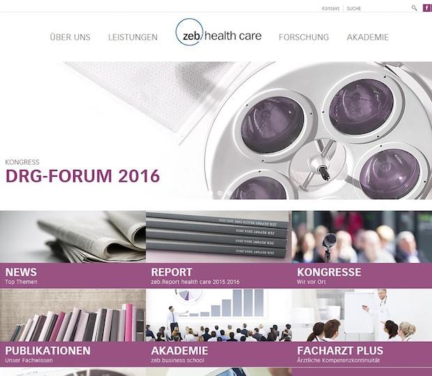 Bild von Neuer Webauftritt von zeb.health care