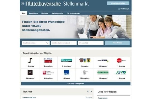Quelle: mittelbayerische-stellen.de/stellenanzeigen.de
