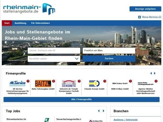 Bild von stellenanzeigen.de relauncht regionale Stellenbörse im Rhein-Main-Gebiet