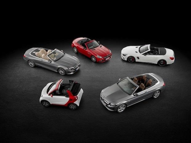 Bild von Die Cabriolet-Kollektion von Mercedes-Benz Cars: In allen Größen erhältlich