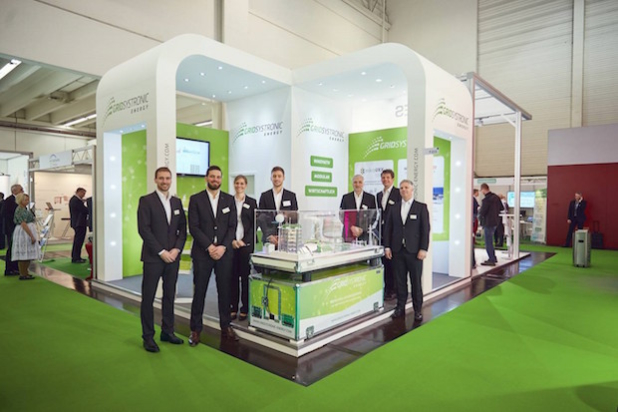 Das Team der GridSystronic Energy auf dem Stand des jungen Unternehmens bei der diesjährigen E-world in Essen. - Foto: Peter Gwiazda für Ruhr Event