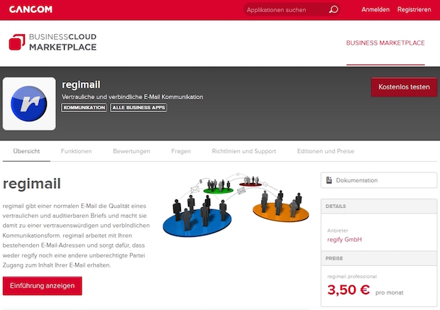 Photo of regify startet im BusinessCloud Marketplace