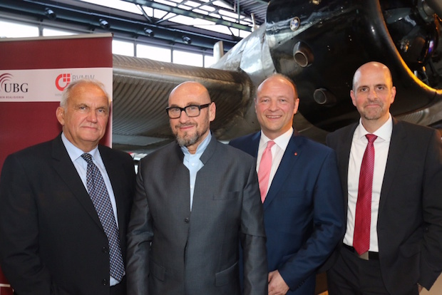 Harald Heidemann (S-UBG), Jochen Schweizer (Unternehmer), Stefan A. Wagemanns (BVMW), Bernhard Kugel (S-UBG) - Quelle: S-UBG AG