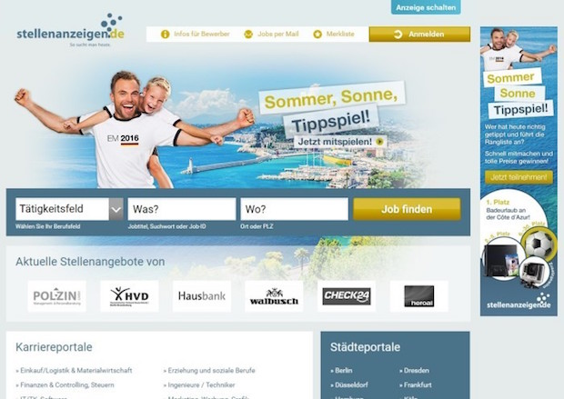 Photo of stellenanzeigen.de bereit fürs Sommermärchen 2016