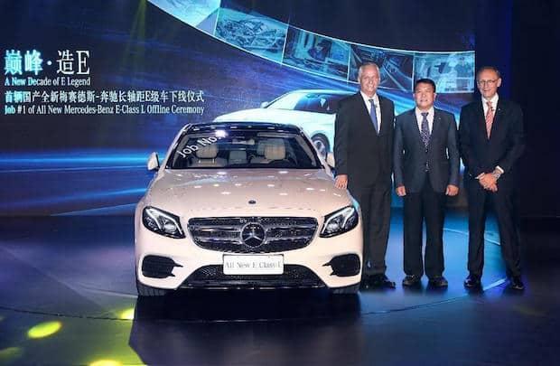 Bild von Mercedes-Benz startet Produktion der neuen E-Klasse Langversion in China
