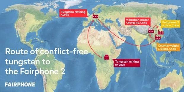 Bild von Smartphone-Pionier Fairphone etabliert transparente Liefer- und Produktionskette für alle vier Konfliktmineralien