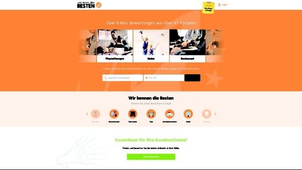 Startseite der Homepage (Quelle: 11 88 0 Solutions AG)