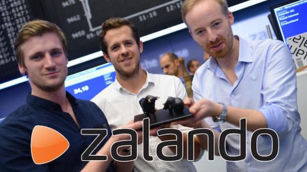 Bullish: Der Zalando-Vorstand mit David Schneider (l-r), Robert Gentz und Rubin Ritter (Quelle: MEEDIA GmbH & Co. KG)