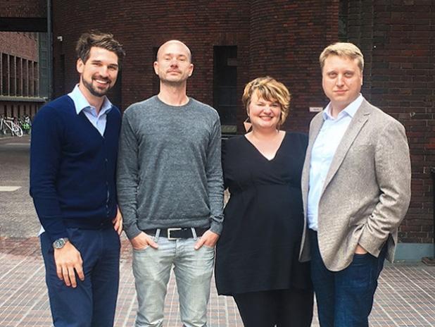 Hannes Klöpper, Gordon Friebe, Christina Pautsch, Dr. Florian Nickels-Teske (Quelle: HIM Holtzbrinck 24 GmbH (iversity))