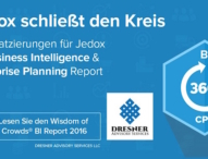 Bestplatzierungen für Jedox in Wisdom of Crowds® Business Intelligence-Marktstudie 2016