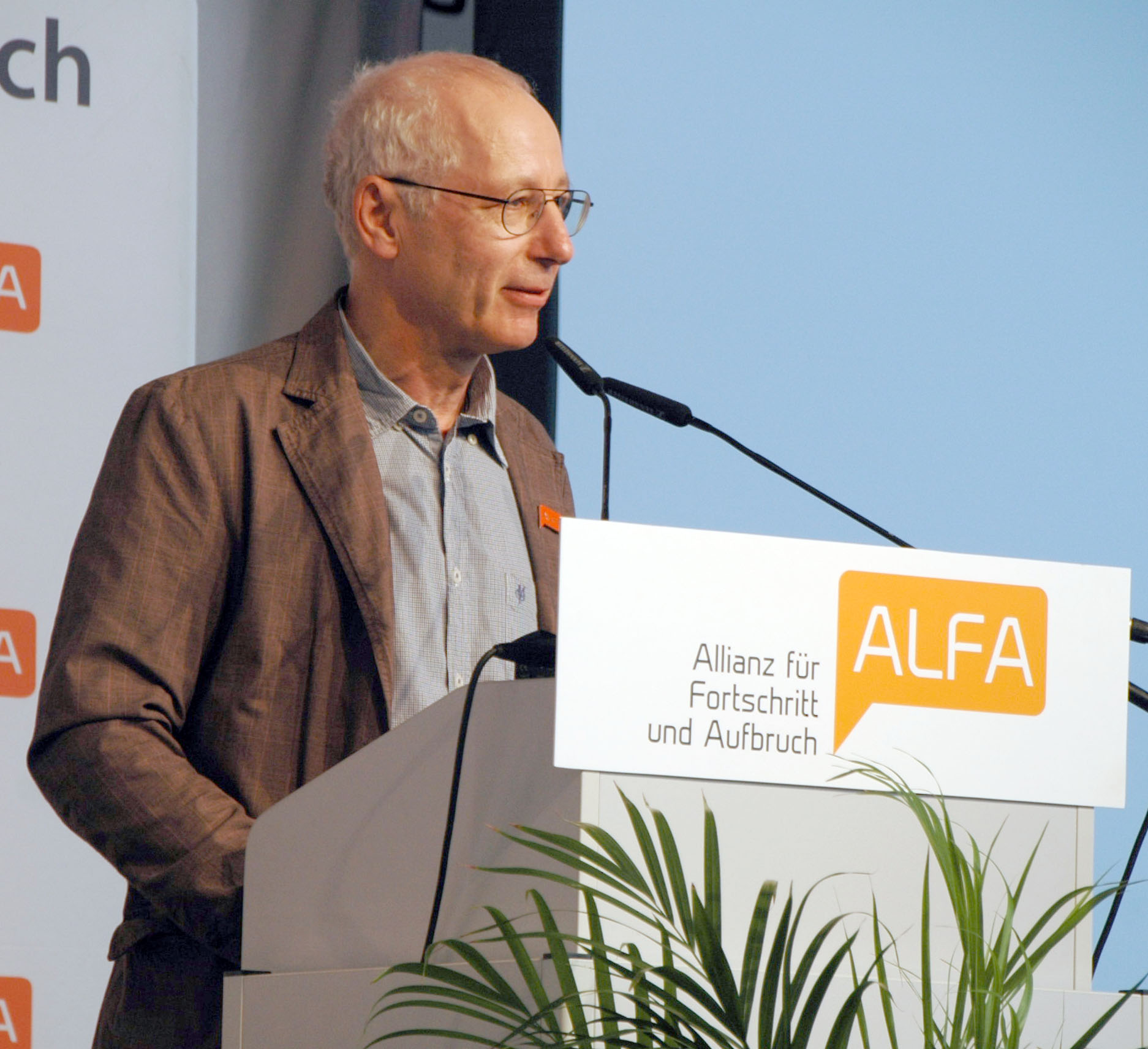 Ulrich van Suntum: ALFA Landesvorsitzender Nordrhein-Westfalen ALFA