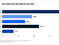 Deutschland gespalten über die Zukunft der AfD