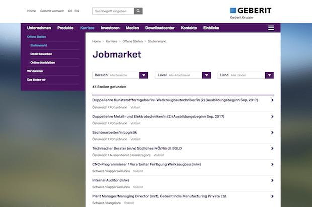 Photo of TWT bringt neue Job-Suche auf die Geberit Corporate Site