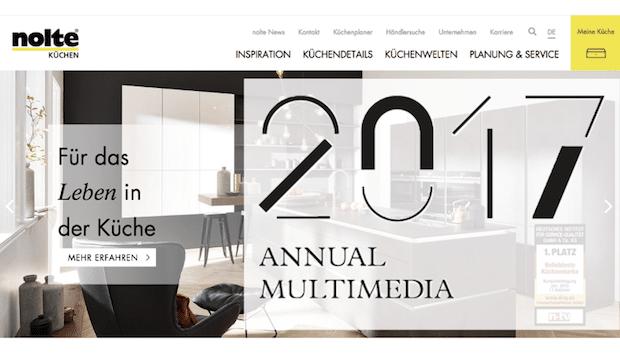 Photo of TWT erhält Annual Multimedia Award 2017 für Nolte Küchen