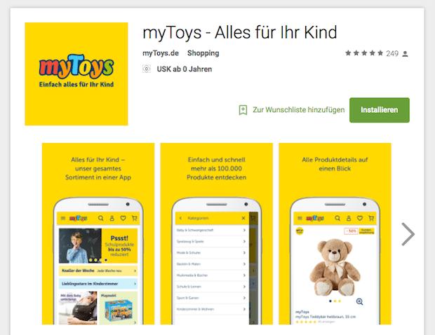Bild von Neue myToys-App sorgt für mobiles Shopping-Erlebnis