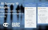10 Erstplatzierungen für Jedox im BARC The BI Survey 16