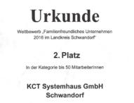 """Ausgezeichnet: KCT Systemhaus bei Wettbewerb als """"Familienfreundliches Unternehmen"""" prämiert"""