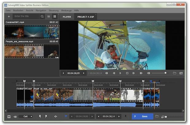Bild von Video Splitter 6 – viele Clips verlustfrei und schnell zu einem Film schneiden