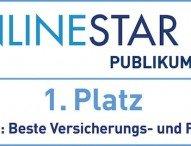 OnlineStar 2016:  FINANZCHECK.de ist beste Versicherungs- und Finanzsite