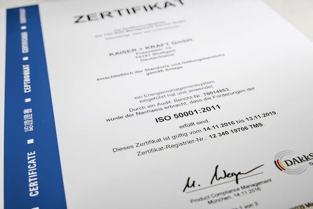 Photo of Auch in Sachen Energiemanagement auf dem aktuellen Stand: KAISER+KRAFT verdient sich ISO 50001 Zertifikat