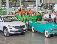 SKODA baut zweimillionstes Auto im Werk Kvasiny