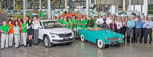 Photo of SKODA baut zweimillionstes Auto im Werk Kvasiny