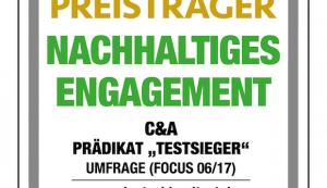 C&A für nachhaltiges Engagement ausgezeichnet