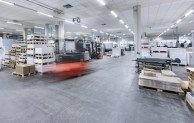 Besonders attraktiv im Mietkonzept: Die Druckpartner Druck- und Medienhaus GmbH setzt auf LED-Beleuchtung