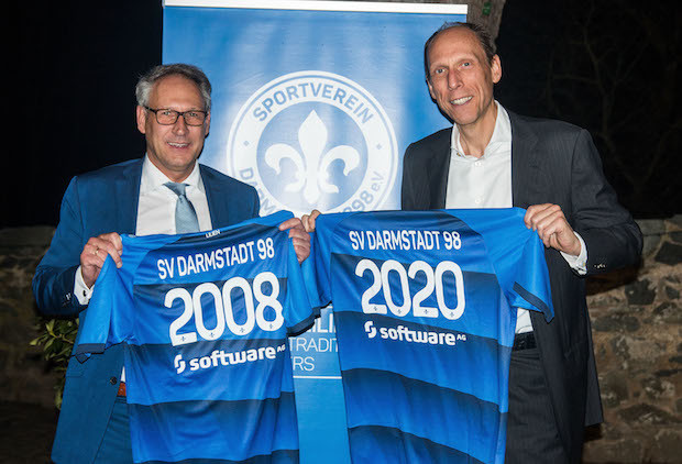 Bild von Partnerschaft geht in die Verlängerung: Software AG erneuert Sponsoring beim SV Darmstadt 98 bis 2020