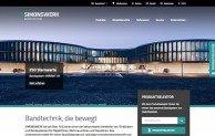 Neue Corporate Website mit umfangreicher Produktkommunikation