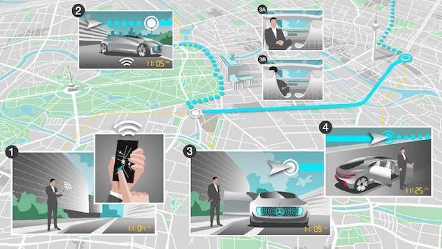 Bild von Mobilität der Zukunft:  Bosch und Daimler kooperieren beim vollautomatisierten und fahrerlosen Fahren