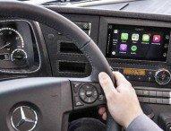 Trendsetter Mercedes-Benz: Apple CarPlay™ und Android MirrorLink™ ab sofort auch im Lkw