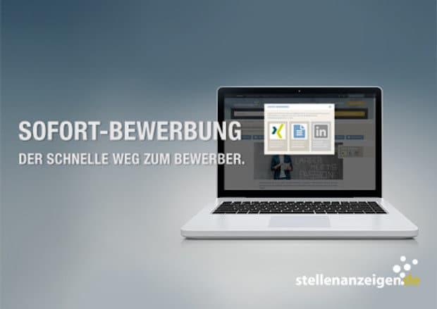 Bild von Die Sofort-Bewerbung auf stellenanzeigen.de: der schnelle Weg zum Job