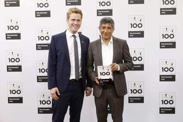 Geschäftsführer Benedikt Grütz von der Unternehmensberatung ValueNet freute sich über die Auszeichnung von Ranga Yogeshwar.