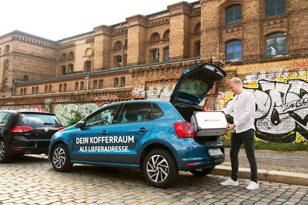 Bild von OUTFITTERY testet Kofferraumzustellung mit Volkswagen und DHL