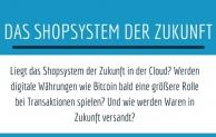 Der Handel im Wandel: Wie sieht das Shopsystem der Zukunft aus?