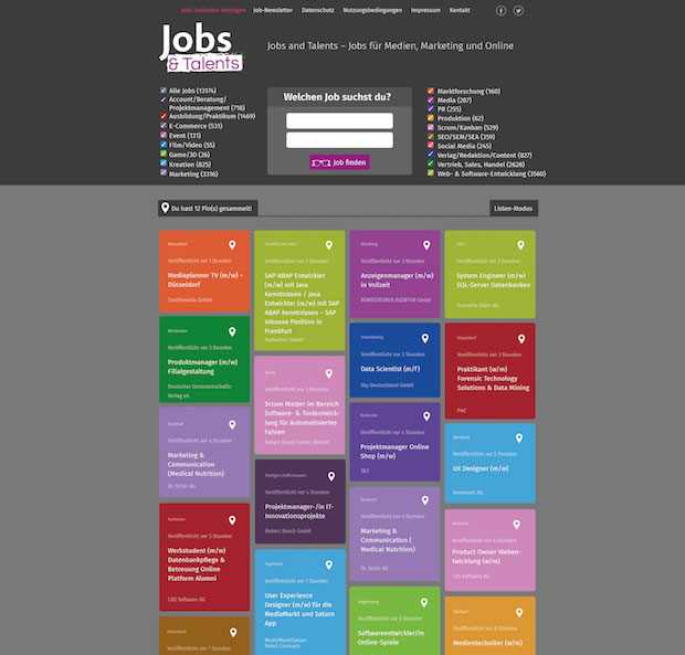 Jobs and Talents – die Jobbörse für Medienmacher