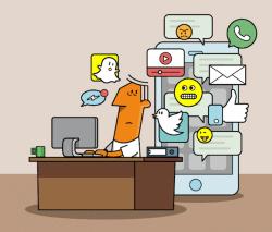 Nur noch schnell ein Tweet – digitale Ablenkungen am Arbeitsplatz