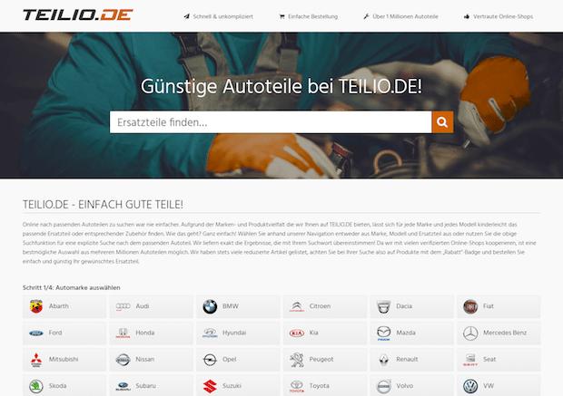 TEILIO.DE gestartet: Live-Suchmaschine für Kfz-Ersatzteile