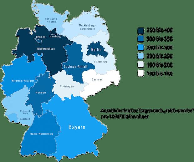 Photo of Diese Bundesländer streben nach schnellem Reichtum