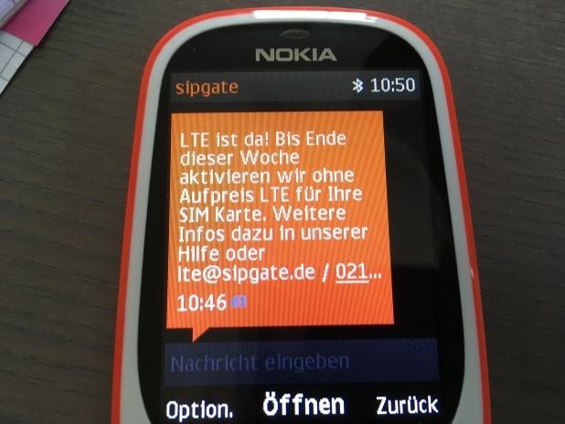 LTE bei Sipgate - In dieser Woche starten die Aktivierungen der Mobilfunkkunden.