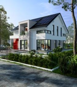 Ein Nachhaltiges-Fertighaus der DFH in Fellbach. Foto: DFH