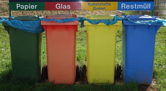 Bild von Mülltrennung im kleinen und großen Rahmen