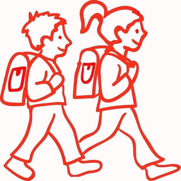 Bild von Tipps, wie Kinder zur Schule laufen können